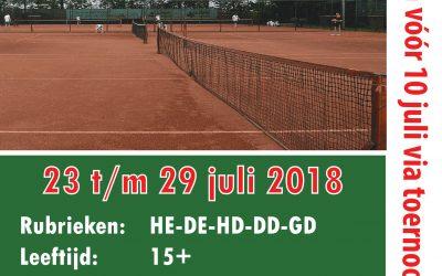 Inschrijving TC Nieuwe Pekela open