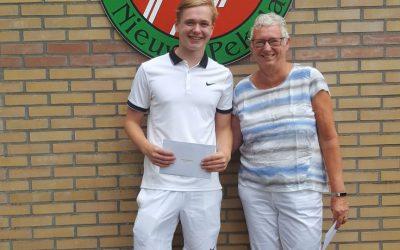 Uitstekende toernooi prestaties TC Nieuwe Pekela